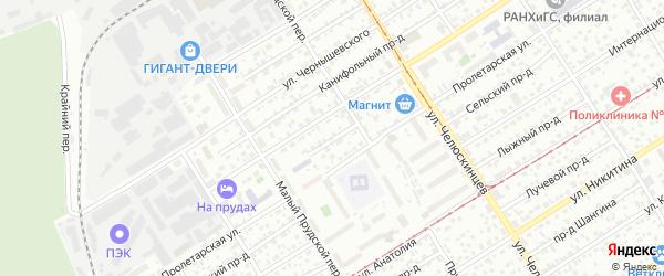 Городской проезд на карте Барнаула с номерами домов