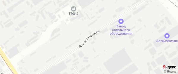 Бриллиантовая улица на карте Барнаула с номерами домов