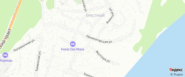 Лениногорская улица на карте Барнаула с номерами домов
