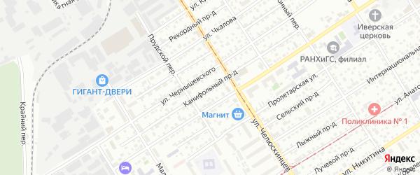 Канифольный проезд на карте Барнаула с номерами домов