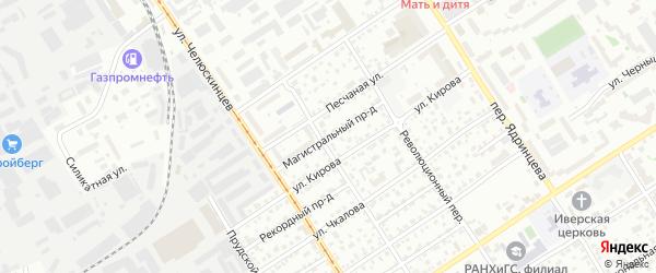 Магистральный проезд на карте Барнаула с номерами домов