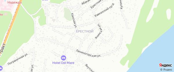 Связной проезд на карте Барнаула с номерами домов