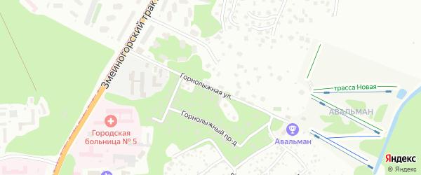 Горнолыжная улица на карте Барнаула с номерами домов