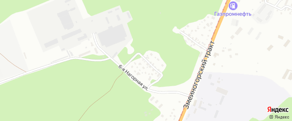 Нагорный проезд на карте Барнаула с номерами домов