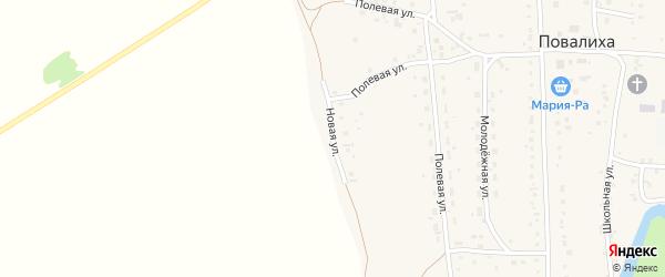 Новая улица на карте села Повалиха с номерами домов