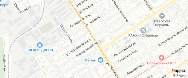 Улица Челюскинцев на карте Барнаула с номерами домов