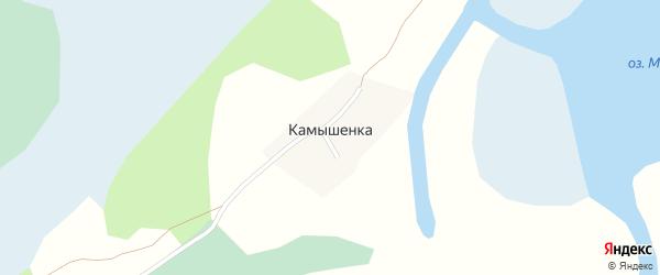 Береговая улица на карте села Камышенки с номерами домов