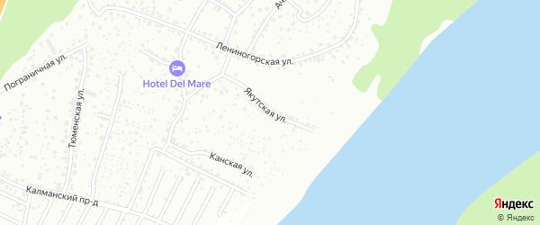 Якутская улица на карте Барнаула с номерами домов