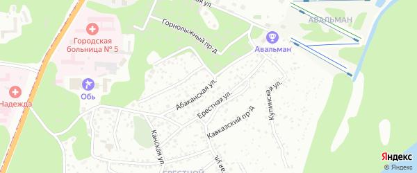Абаканская улица на карте Барнаула с номерами домов
