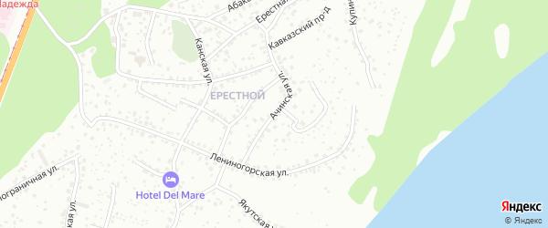 Ачинская улица на карте Барнаула с номерами домов