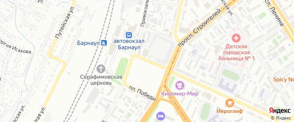 Площадь Победы на карте Барнаула с номерами домов