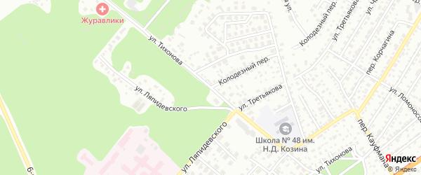 Улица Тихонова на карте Барнаула с номерами домов