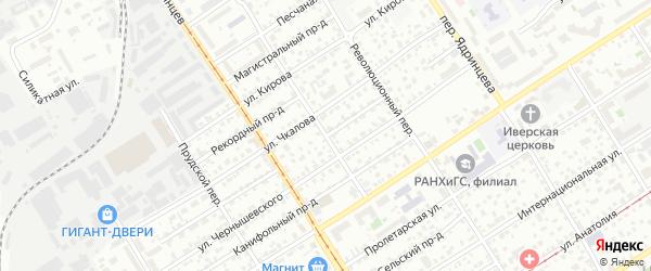 Капитальный переулок на карте Барнаула с номерами домов