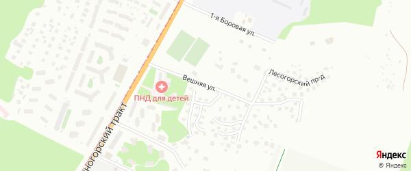 Вешняя улица на карте Барнаула с номерами домов