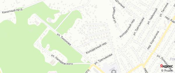 Проезд Лесная Поляна на карте Барнаула с номерами домов