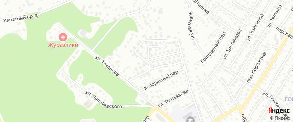 Лесная улица на карте территории сдт Восхода-2 с номерами домов