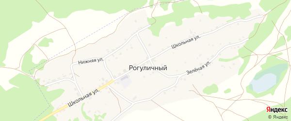 Школьная улица на карте Рогуличного поселка с номерами домов