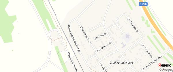 Сиреневая улица на карте Сибирского поселка с номерами домов