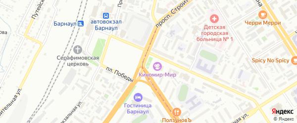 Бульвар Защитников Сталинграда на карте Барнаула с номерами домов