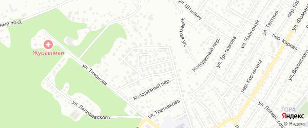 Фиалковый проезд на карте Барнаула с номерами домов