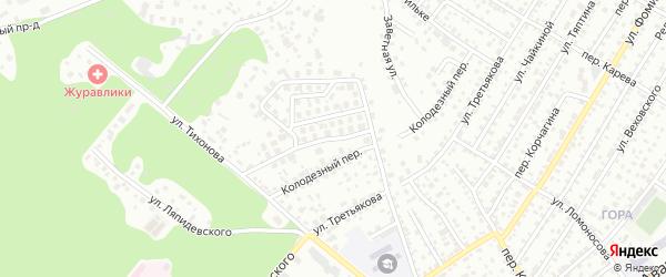 Удобный проезд на карте Барнаула с номерами домов