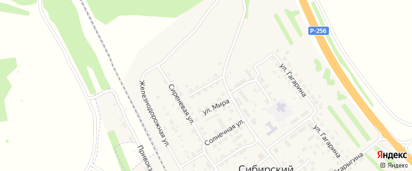 Улица Энергетиков на карте Сибирского поселка с номерами домов