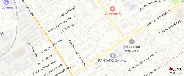 Революционный переулок на карте Барнаула с номерами домов
