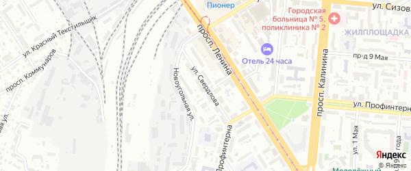 Улица Свердлова на карте Барнаула с номерами домов