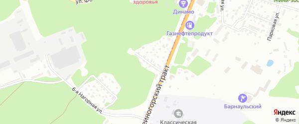 Солнечная улица на карте Барнаула с номерами домов