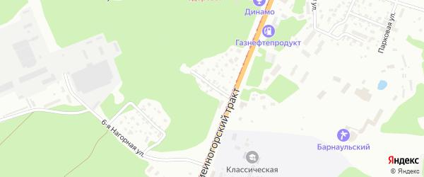 Солнечная улица на карте садового некоммерческого товарищества N 3 с номерами домов