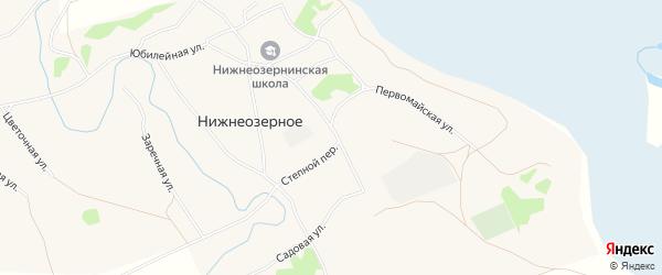 Карта Нижнеозерного села в Алтайском крае с улицами и номерами домов