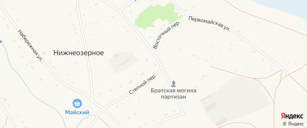 Пионерский переулок на карте Нижнеозерного села с номерами домов