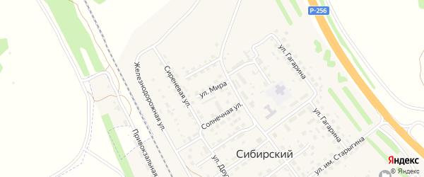 Улица Мира на карте Сибирского поселка с номерами домов