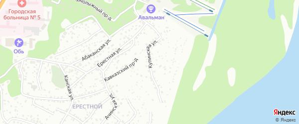 Купинская улица на карте Барнаула с номерами домов