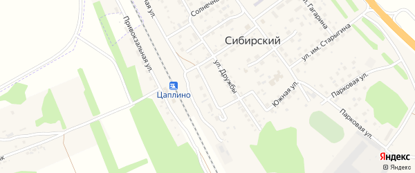 Строительная улица на карте Сибирского поселка с номерами домов