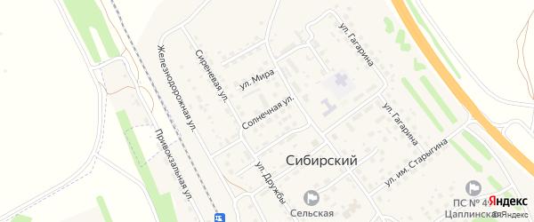 Солнечная улица на карте Сибирского поселка с номерами домов