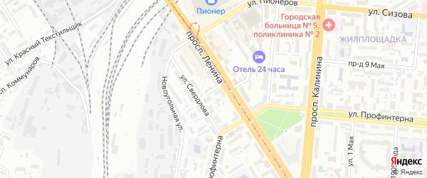 Угольная улица на карте Барнаула с номерами домов