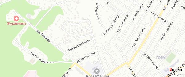 Колодезный переулок на карте Барнаула с номерами домов