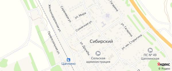 Сибирская улица на карте Сибирского поселка с номерами домов