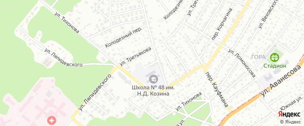 Улица Верещагина на карте Барнаула с номерами домов
