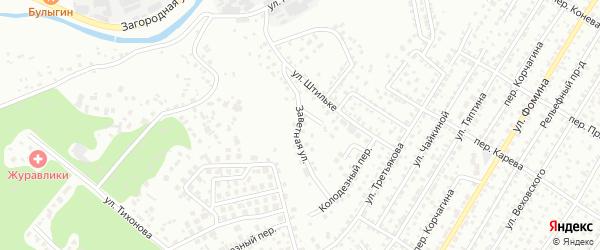 Заветная улица на карте Барнаула с номерами домов