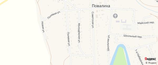 Молодежная улица на карте села Повалиха с номерами домов