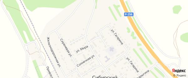 Новая улица на карте Сибирского поселка с номерами домов