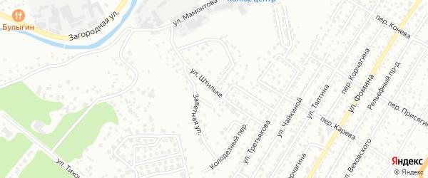 Улица Штильке на карте Барнаула с номерами домов