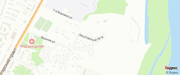 Лесогорский проезд на карте Барнаула с номерами домов