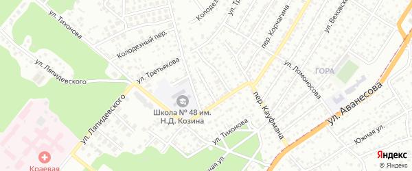 Сосновый проезд на карте Барнаула с номерами домов