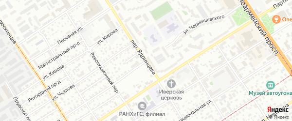 Улица Чернышевского на карте Барнаула с номерами домов