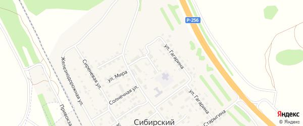 Садовая улица на карте Сибирского поселка с номерами домов