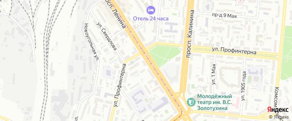 Проспект Ленина на карте Барнаула с номерами домов