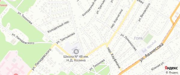 Переулок Стеклянный Лог на карте Барнаула с номерами домов